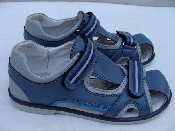 Ортопед кожаные сандалии туфли яркие легкие,р.37,стелька-24 см