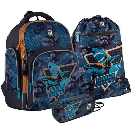 Школьный набор рюкзак + пенал + сумка Kite Shark attack K21-706S-1