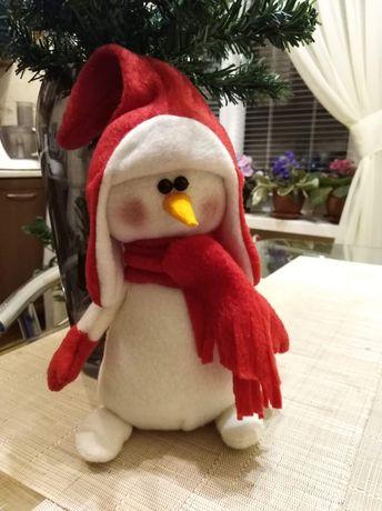Снеговик, ручная работа