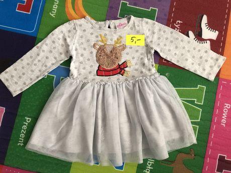 Sukienka świąteczna 74 + sukienka, bluza, body i spiochy