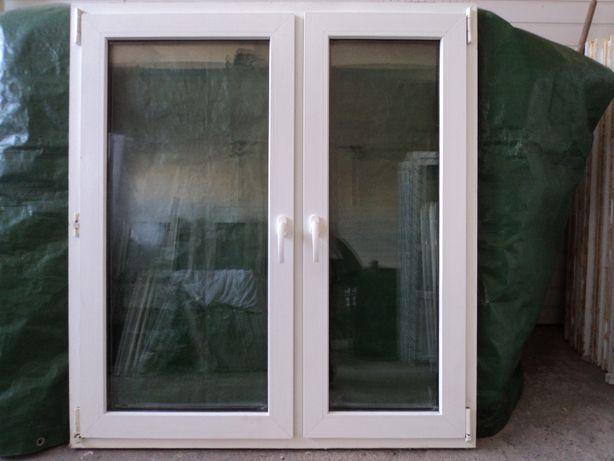 Okna pcv -sz126x138w- dwuskrzydłowe - 3szt