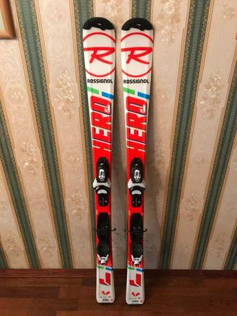 Лыжи подростковые 130 см Rossignol Hero,НЕ после проката! Накат15 дней