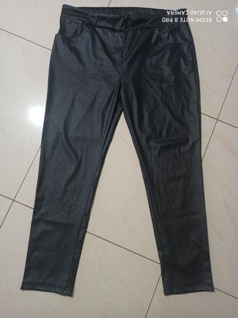 Spodnie legginsy a'la skóra r. 50/52