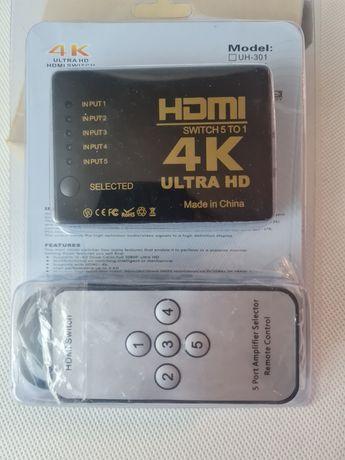 Switch hdmi 5w1, rozgałęźnik hdmi, 4K