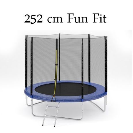 Батут fun fit 252 см з сіткою та драбиною