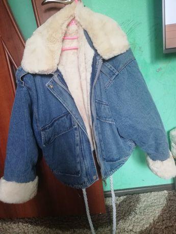 Джинсовая куртка зима оверсайз
