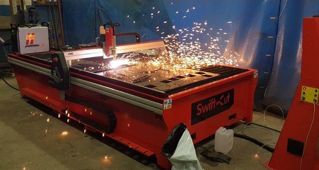 Cięcie, palenie, wypalanie blach plazmą CNC stół o wymiarach 3000x1500