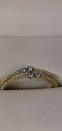 złoty pierścionek delikatna rozkosz próba 585