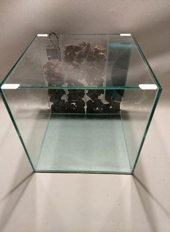 Nowe akwarium (40x40x40) + pokrywa + panel filtracyjny, Aquawaves