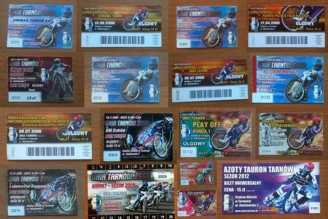 20 x bilet żużel Unia Tarnów od 2005 do 2012 speedway wysyłka