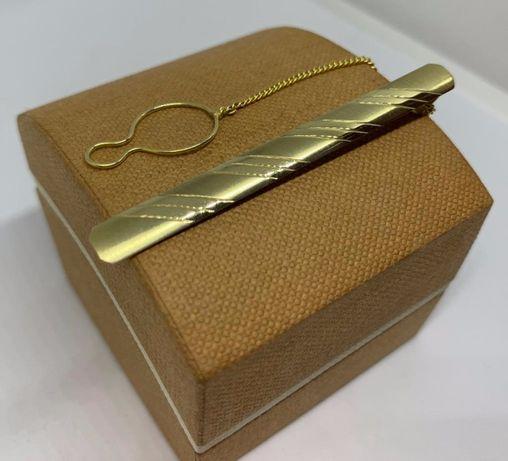 Elegancka złota spinka do krawata próby 583