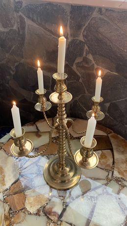Кандилябр (подсветчник) 5 свечей бронза