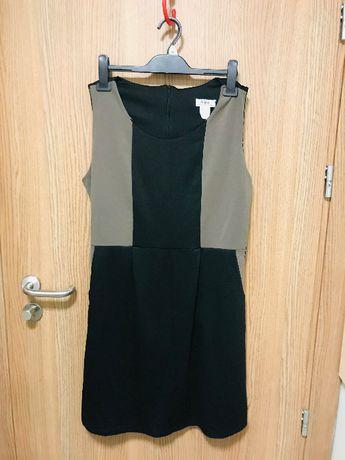 Letnia sukienka wyszczuplająca BonPrix r.46 z kieszeniami NOWA