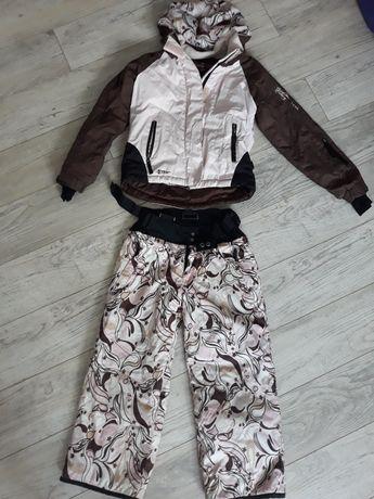 Kurtka i spodnie narciarskie komplet dla dziewczynki 122