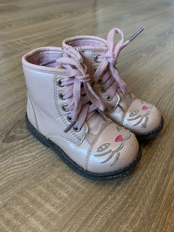 Ботинки демисезонные С.луч Котики 23 р. ( 14 см ) розовый для девочки