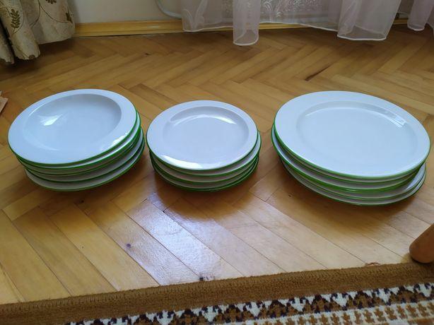 Набор тарелок посуды haas & czjzek фарфор Чехия 18 шт.