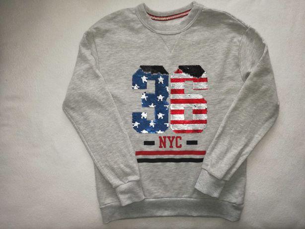 H&M bluza dresowa odwracane cekiny L