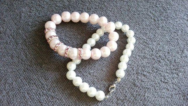 Bransoletki koralki perly