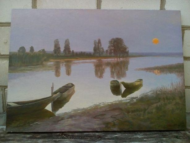 Картина маслом пейзаж Белая ночь