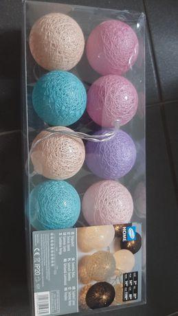 Cotton Balls Kulki Świecące kolorowe róż fiolet