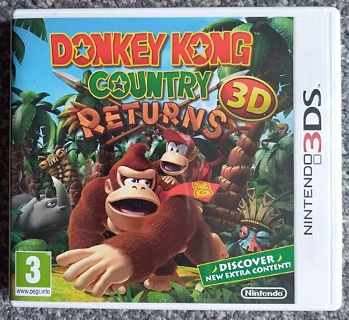 Donkey Kong Country Returns 3D na 3DS gra RETRO hit kolekcjonerskie