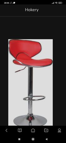 2 hokery krzesła barowe czerwone jak nowe