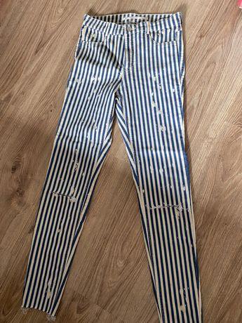 Spodnie w paski zara 36 s