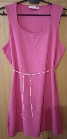 Sukienka różowa mini bez rękawów