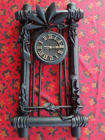 Stylowy zegar ścienny, nieużywany(nietrafiony prezent świąteczny)