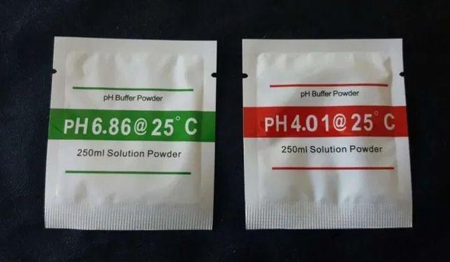 Teste Ph Pack 2 Saquetas para Calibração Medidor de PH (4 / 6.86)