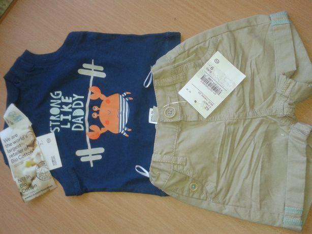 Детский набор, комплект шорты, футболка