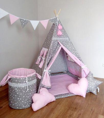 """Tipi. Namiot dla dzieci """"Pałac księżniczki"""" ( z koronką )"""