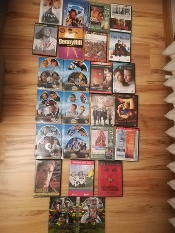Filmy na płytach DVD,w kasetach.