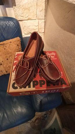 Мужские лоферы Chippewa с двумя глазками American Bison Oxford Penny