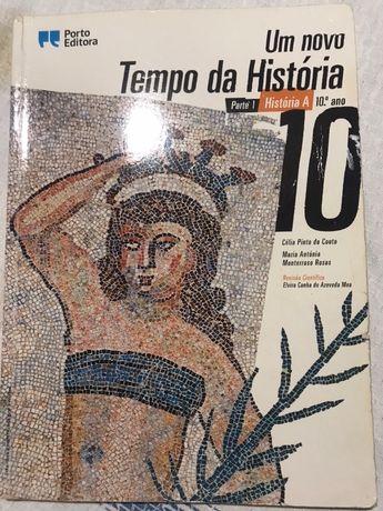"""Manual de Historia de 10° Ano """"Tempo de História""""."""