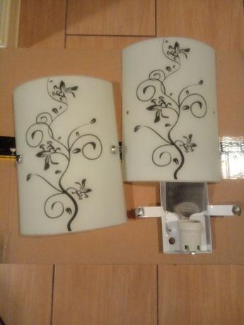 Kinkiety, lampy ścienne wewnętrzne (E27) 2 sztuki.