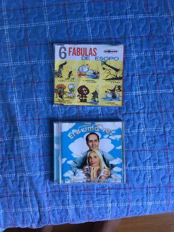 2 CD's histórias infantis