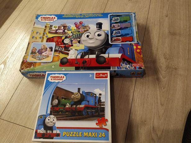 Tomek i przyjaciele Fischer Price gra + puzzle