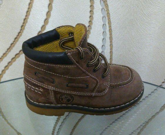 Утепленные ботинки натур кожа PAT et RIPATON Испания стелька 14,5 см