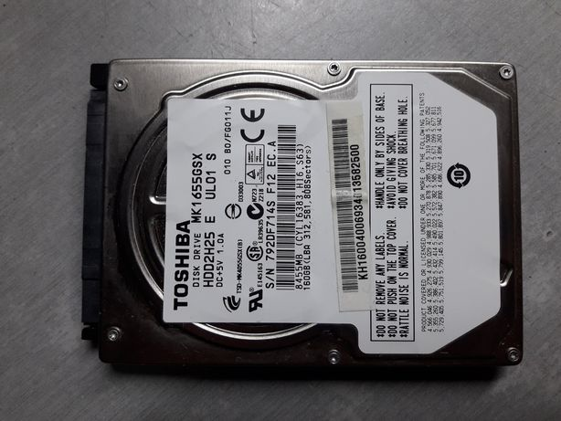 "Disco 2.5"" SATA - Toshiba - 160GB - TESTADO - 100%"