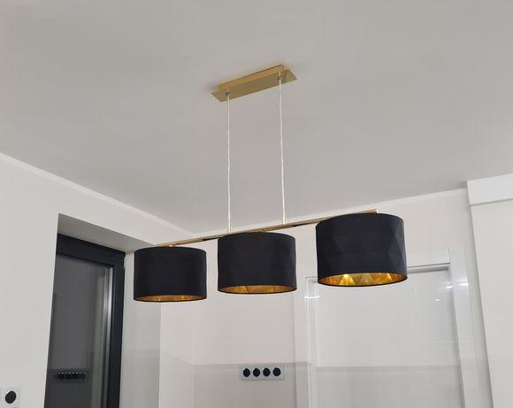 lampa czarno zlota nad stol
