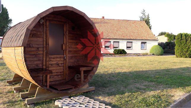 Sauna beczka 3,5 m Sauna fińska, rosyjska bania + piec