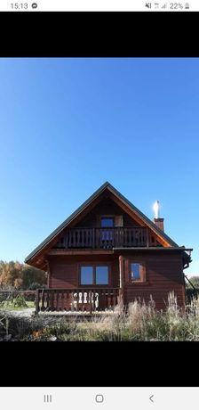 Drewniany dom mieszkalny