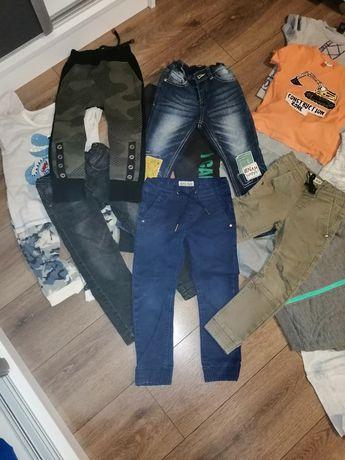 Paka dla chłopaka 98/104 110 Ciuchy ubrania  podkoszulki piżamy bluzki
