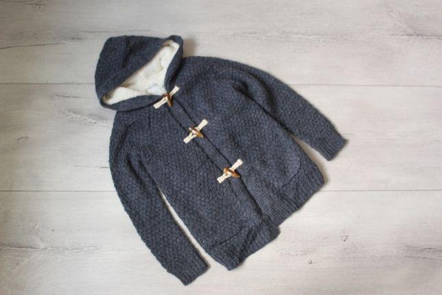 Gruby sweter kardigan 140/146