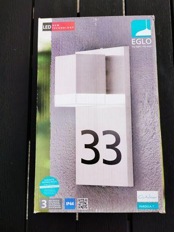 Lampa zewnętrzna z numerem domu EGLO Pardela 93369 gwarancja 2 lata