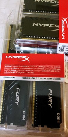 Пам'ять DDR4 16GB (2x8GB) 2400 MHz HyperX  Kingston HX424C15FB3K2/16
