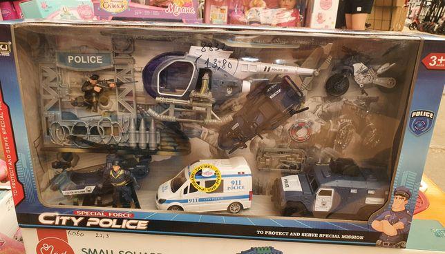 Набор полицейского, игровой набор полицейского, полицейский вертолёт,