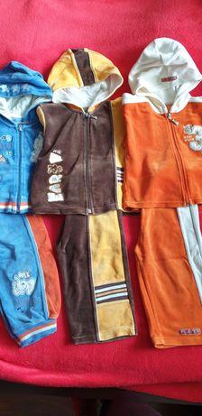 Welurowe dresy r. 80-86