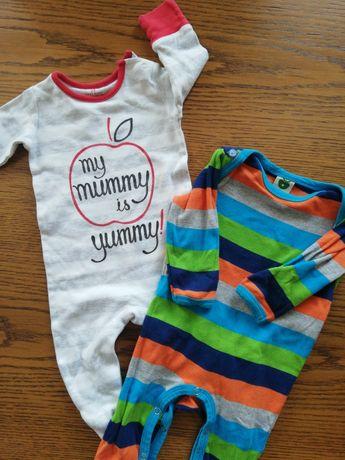 12x pajacyki 62/68 chłopięce niemowlęce dla chłopca do spania piżama